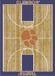Milliken College Court Collection Clemson Tigers Blue Rug
