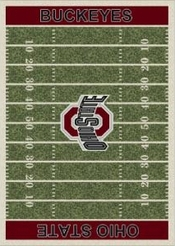 ohio state field rug